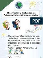 evaluacion de patrones motores