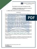 RO# 696-S - Procedimiento Para Solicitar Certificado de Residencia Fiscal (22 Febrero 2016)