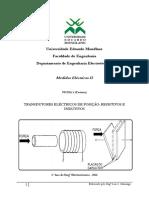 Ficha 3 - Transdutores Eléctricos de Posição - Resistivos e Indutivos