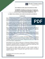 RO# 696-S - Norma Para Registro de Documentos Electrónicos Para La Presentación de Los ATS (22 Febrero 2016)