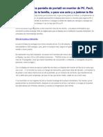 Convertir Pantalla de Portatil en Monitor de PC