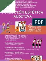 Diapositivas de la Exposición Formación Estética Auditiva