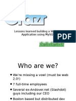 Lessons Learned Building a Web 2.0 Application Using MySQL Presentation