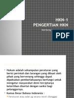 HKN-1 Pengantar HKN Bb