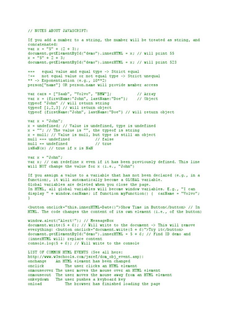 Jscript Notes   Html   Html Element