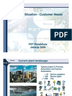 01 FDT - The Solution - Current Situation - Customer Needs