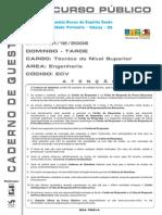 Coseac 2008 Codesa Tecnico de Nivel Superior Engenharia Civil Prova