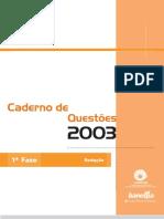 Concurso Vestibular - Caderno de Questões 2004