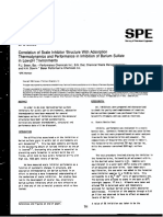 20688 Correlation of Scale Inhibitor Structure of Barium Sul