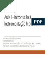 Aula I - Introdução à Instrumentação Industrial