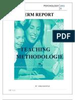 Teachning Methodolgy Psychology