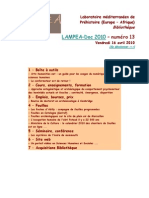 LAMPEA-Doc 2010 – numéro 13 / Vendredi 16 avril 2010