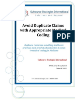 Avoid Duplicate Claims With Appropriate Medical Coding