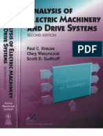 Analysis of Electric Machinery and Drive Systems
