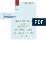 57577750 Export Incentives by Indian Government