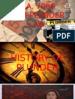 Anti Plunder Act Ra 7080