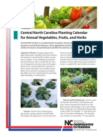 Central North Carolina Planting Calendar for Annual Vegetables Fruits and Herbs