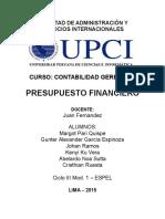 Presupuesto financiero UPCI