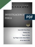 Investigacion de Fisica 1er. Parcial
