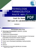 Tehnologie Farmaceutica Anul III