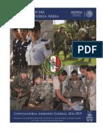 Convocatoria General de Admsion 2016-2019