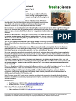 Fresh Science press release