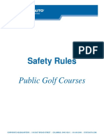 Public Golf Course Rules