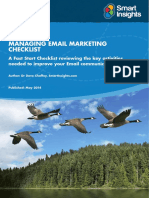 Email Marketing Fast Start Checklist Template Smart Insights