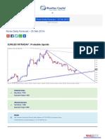 Forex Daily Forecast - 25 Feb 2016 BlueMax Capital