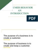 Consumer Behavior. Intro