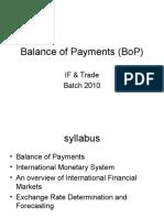 Balance of Payments (BoP)