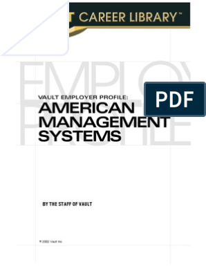 VEP: American Management Systems 2003 (Vault Employer Profile)