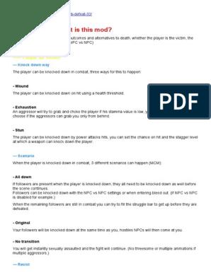 DefeatDescription V5+ | Keyboard Shortcut | Rape