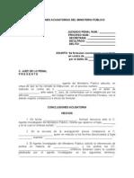CONCLUSIONES ACUSATORIAS DEL MINISTERIO PÚBLICO