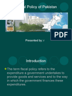 Fiscal Policy Pakistan