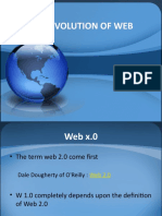 The Evolution of Web