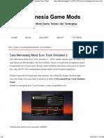 Cara Memasang Mods Euro Truck Simulator 2 - Indonesia Game Mods