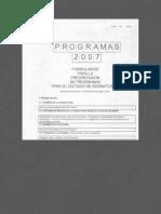 Programa de EPSS I