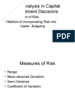 Risk Analysis in Capital Investment Decisions