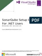 SonarQube Setup Guide for Net Users v 1 2 0
