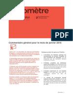 Baromètre PACA / janvier 2016