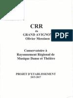 Projet d'établissement 2015-2017