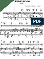 A Fuego Lento - Horacio Salgán. Partitura para piano.