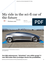 My Ride in the Car of the Future