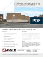 Kingdom Hall for Sale in Erith, England