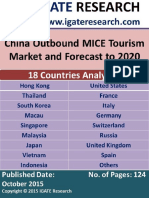China Outbound MICE Tourism Market and Forecast to 2020