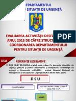 Evaluare DSU 2013