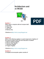 Computer Architecture and Organization MCQS