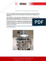 Propellants for pneumatic conveying process in dense phase
