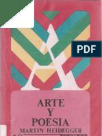 "Heidegger, Martin  ""Arte y poesía"""